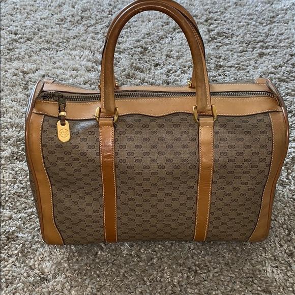 5842a1ce13a9 GUCCI Bags | Micro Gg Boston Bag Vintage | Poshmark